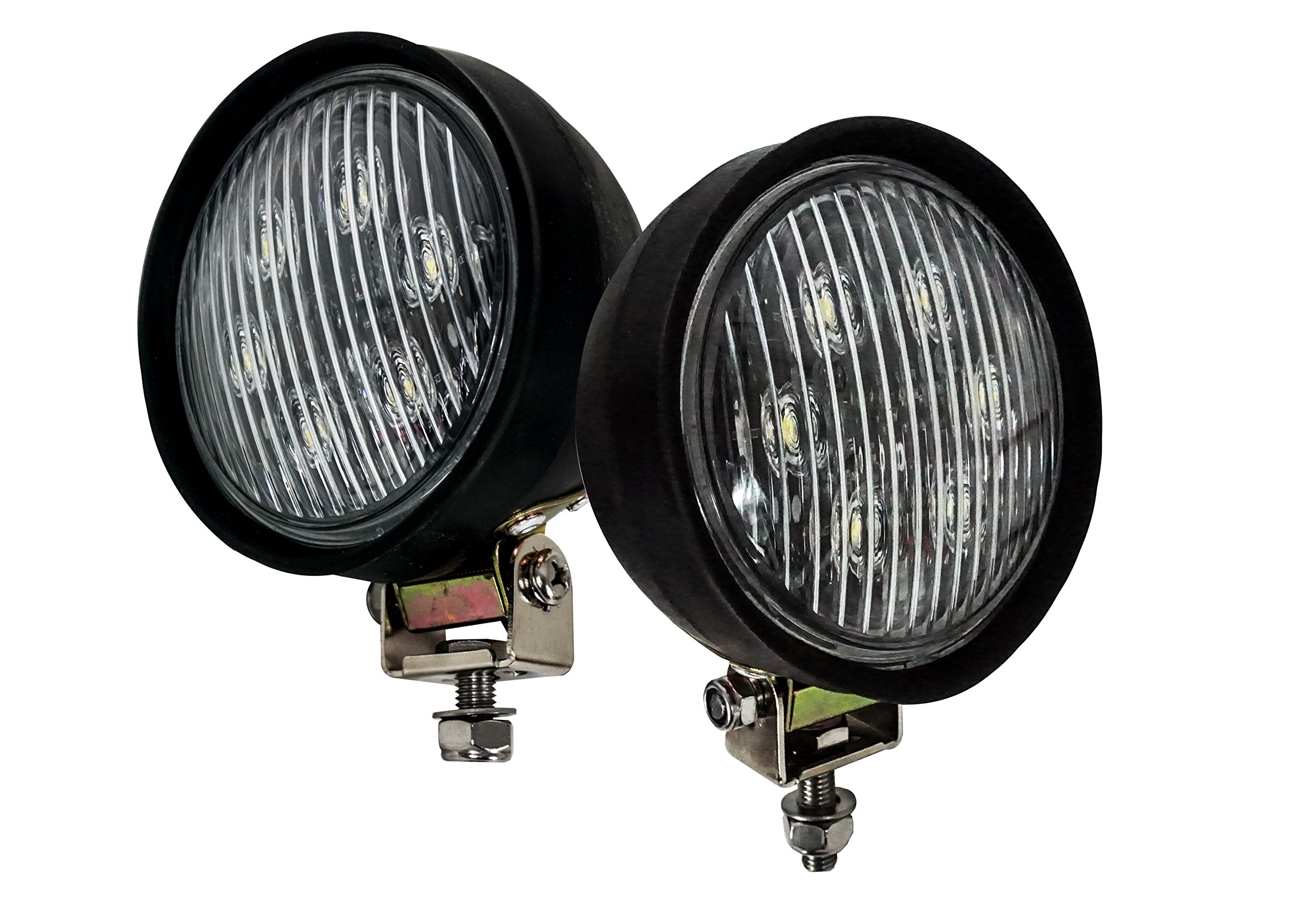 1 Pair OZ-USA H7606 LED Work Light Forklift Tractor Head Fender PAR 36 4411 Tow Truck Heavy Equipment by OZ-USA