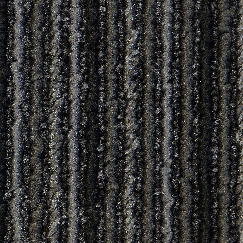 Design Teppichfliesen Andorra 50x50 cm selbstliegend Anthrazit, 4 St/ück antistatisch mit Bitumen R/ücken 1 m/² Set strapazierf/ähiger Teppich Bodenbelag mit hochwertigem Schlingenflor
