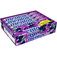 Mentos Chewy Mint Candy Roll, Japanese Grape, Party, Non Melting, 1.32 ounce/14 Pieces (Pack of 12)