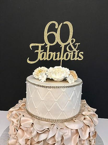 Monsety Qualsiasi Numero Oro Compleanno 60 And Fabulous
