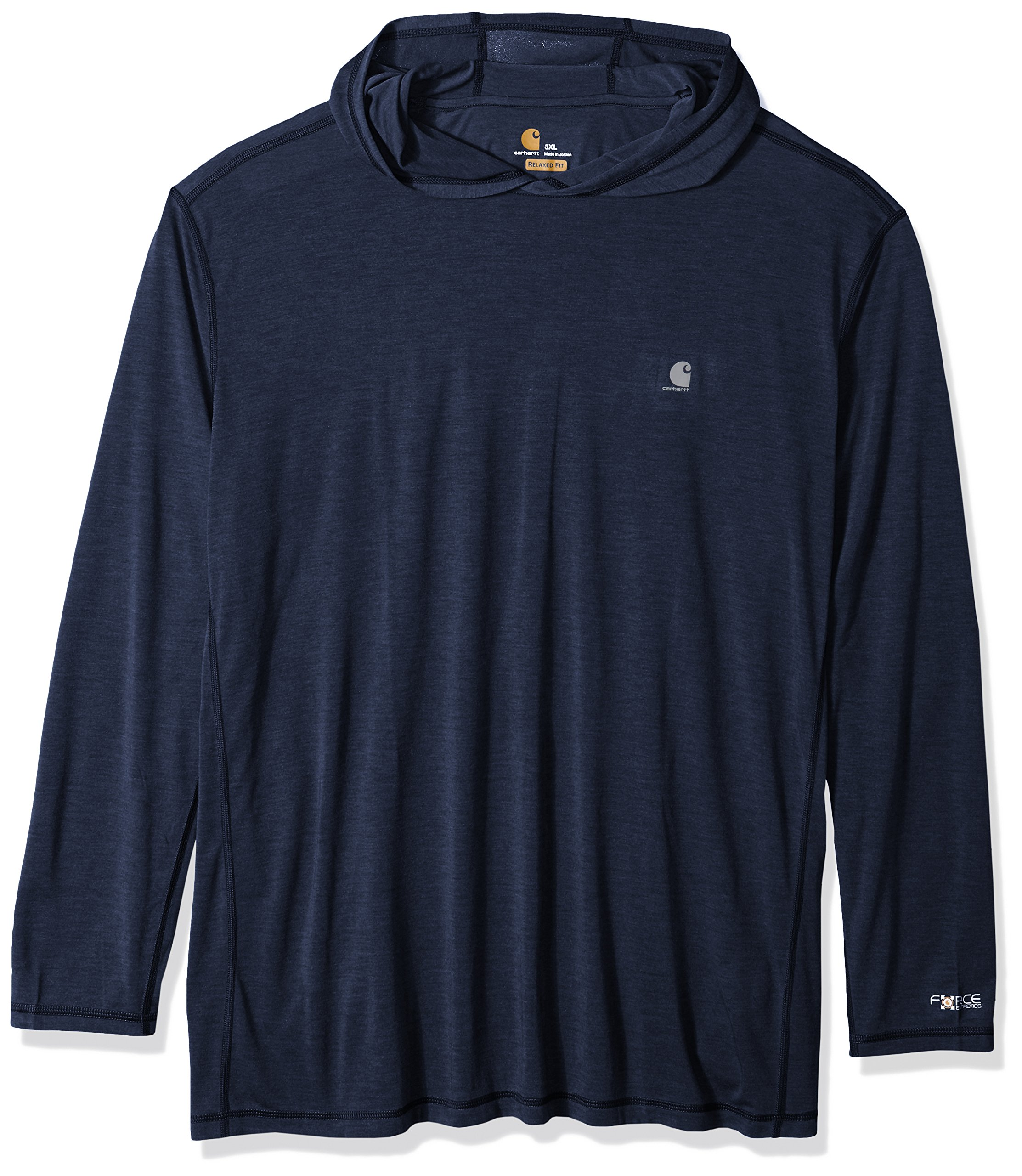 Carhartt Men's Force Extremes Hooded Pullover (Regular and Big & Tall Sizes), Navy Heather, 4X-Large