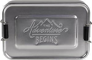 Gentlemen's Hardware Aluminum Lunch Box, Silver