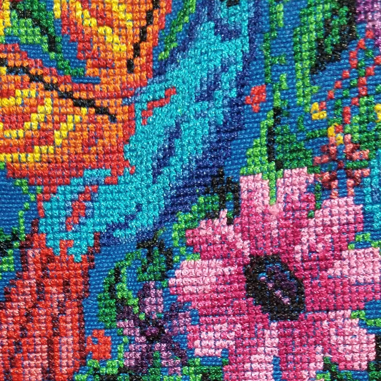 Amazon.com: Sudadera afelpada -ROJA-, bordado tipo cruz. Talla -XL-: Handmade