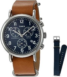 57fda290841 Amazon.com  Timex Unisex T2N651 Weekender Olive Nylon Slip-Thru ...