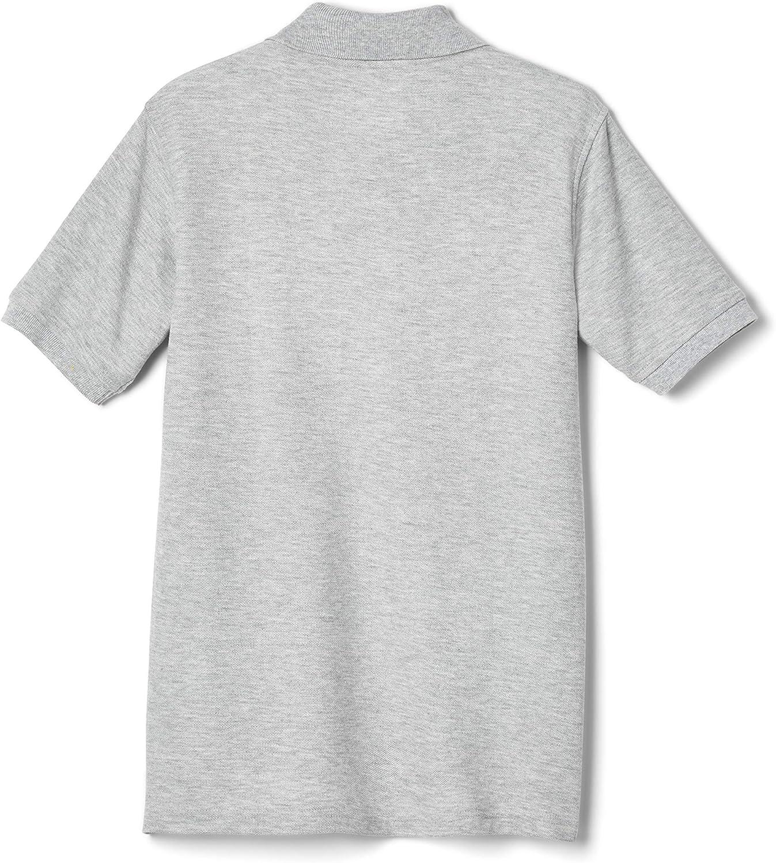 Medium//10-12 Husky French Toast Boys Long-Sleeve Pique Polo Shirt Black