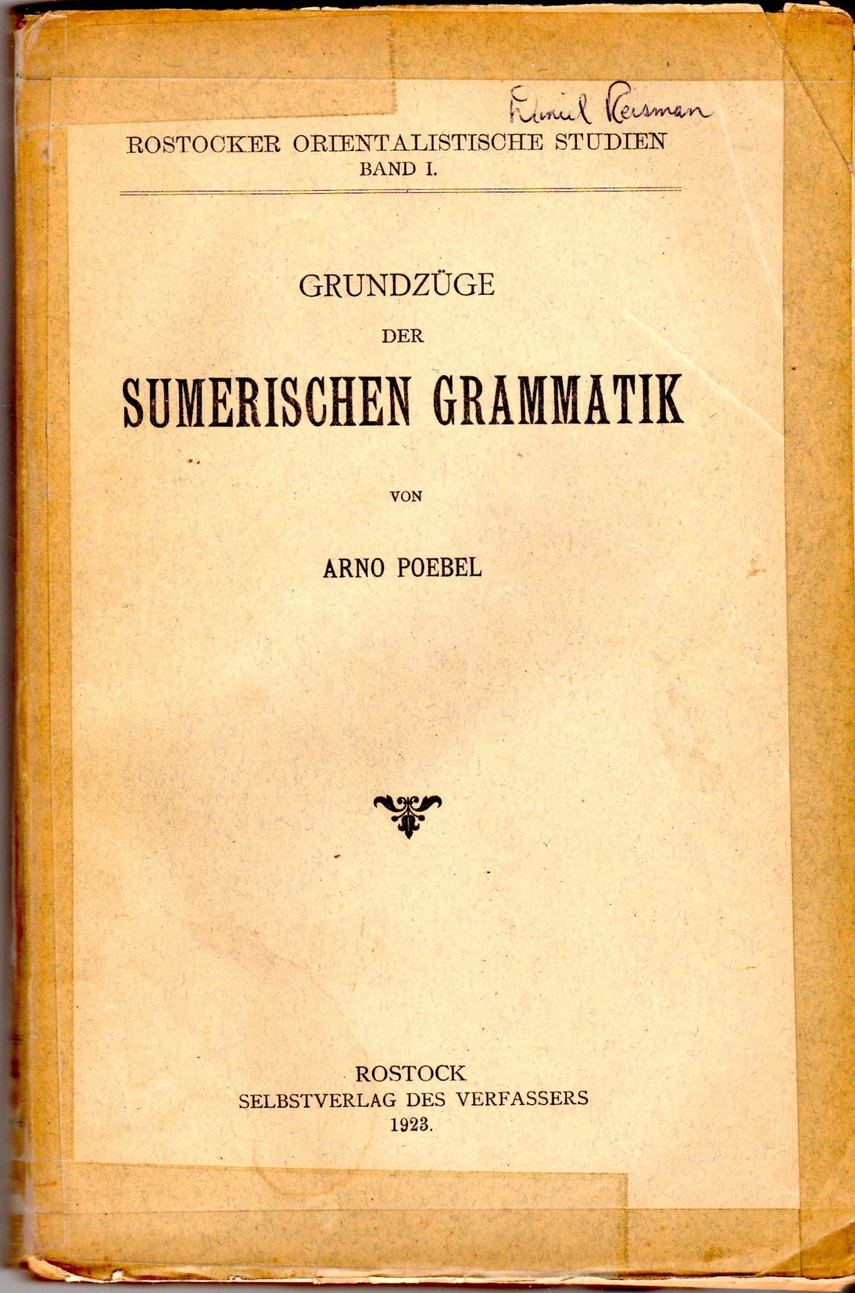 """Результат пошуку зображень за запитом """"Arno Poebel Sumerischen Grammatik"""""""