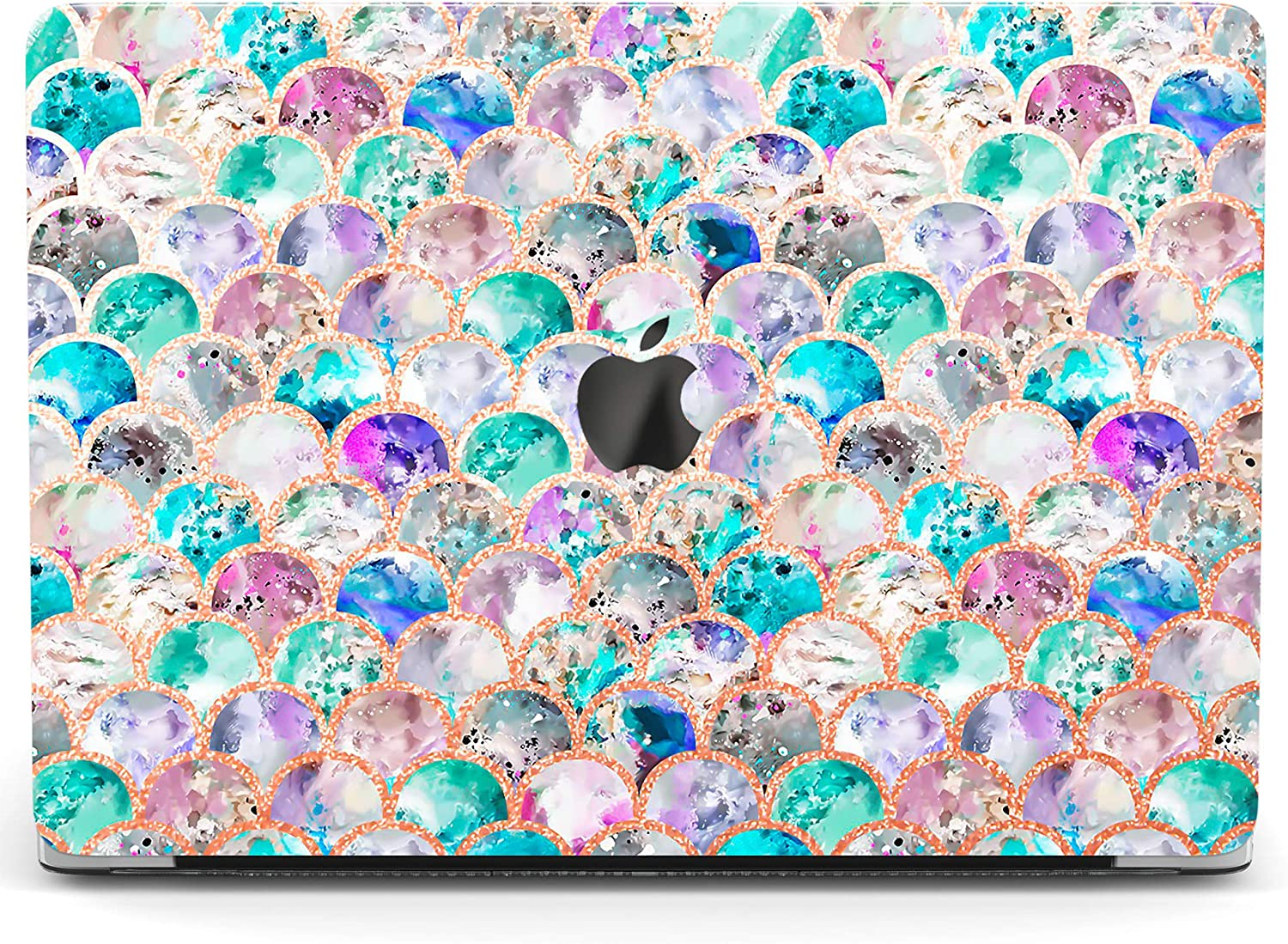Wonder Wild Case for MacBook Air 13 inch Pro 15 2019 2018 Retina 12 11 Apple Hard Mac Protective Cover Touch Bar 2017 2016 2020 Plastic Laptop Print Marble Pattern Cute Abstract Waves Multicolored