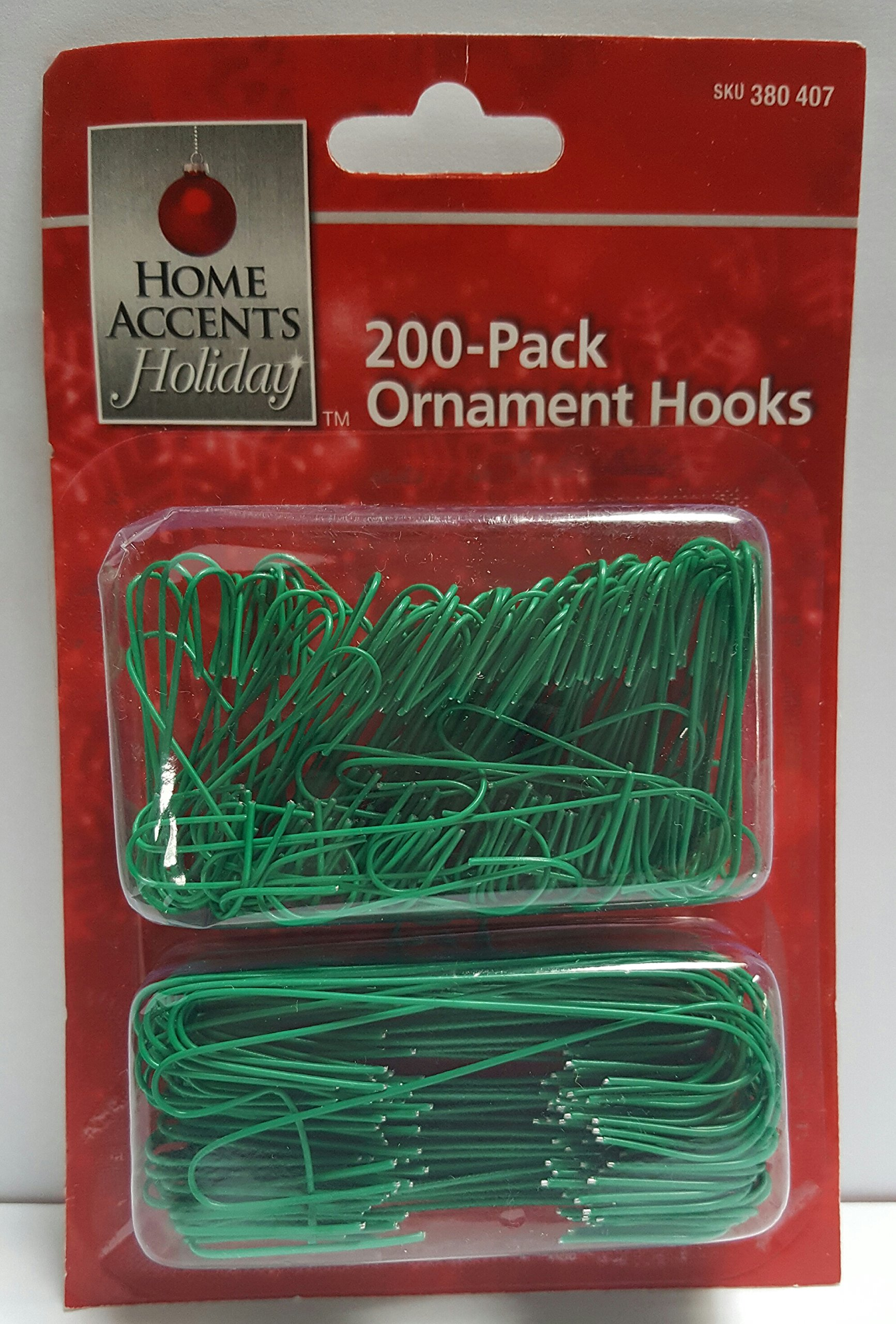 Home Accents Holiday Green Ornament Hooks 200ct
