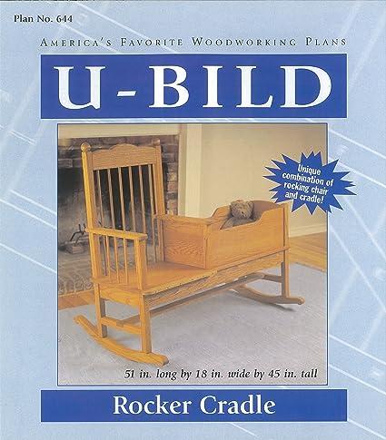 U Bild 644 Rocker Cradle Project Plan   Baby Furniture Woodworking Project  Plans   Amazon.com