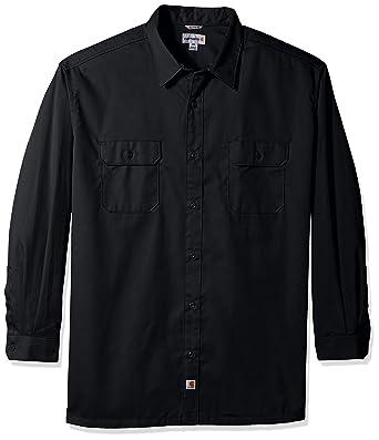 cc41ee3c4fb Amazon.com  Carhartt Men s Big-Tall Twill Work Long Shirt Button ...
