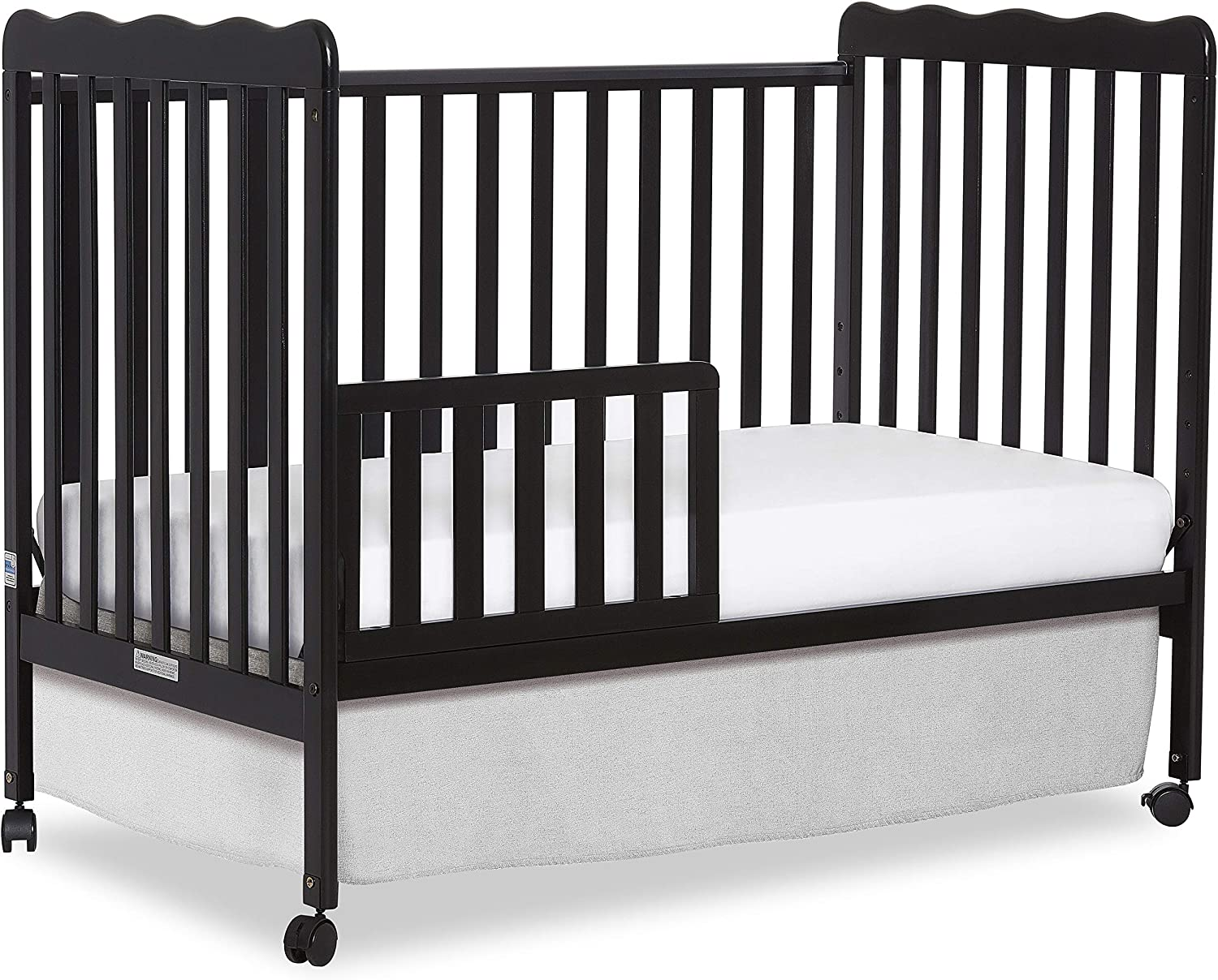 Dream On Me Classic 3 in 1 Convertible Stationary Side Crib Black