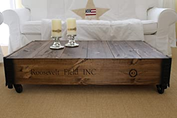Table basse coffre en bois table d\'appoint vintage style shabby chic ...