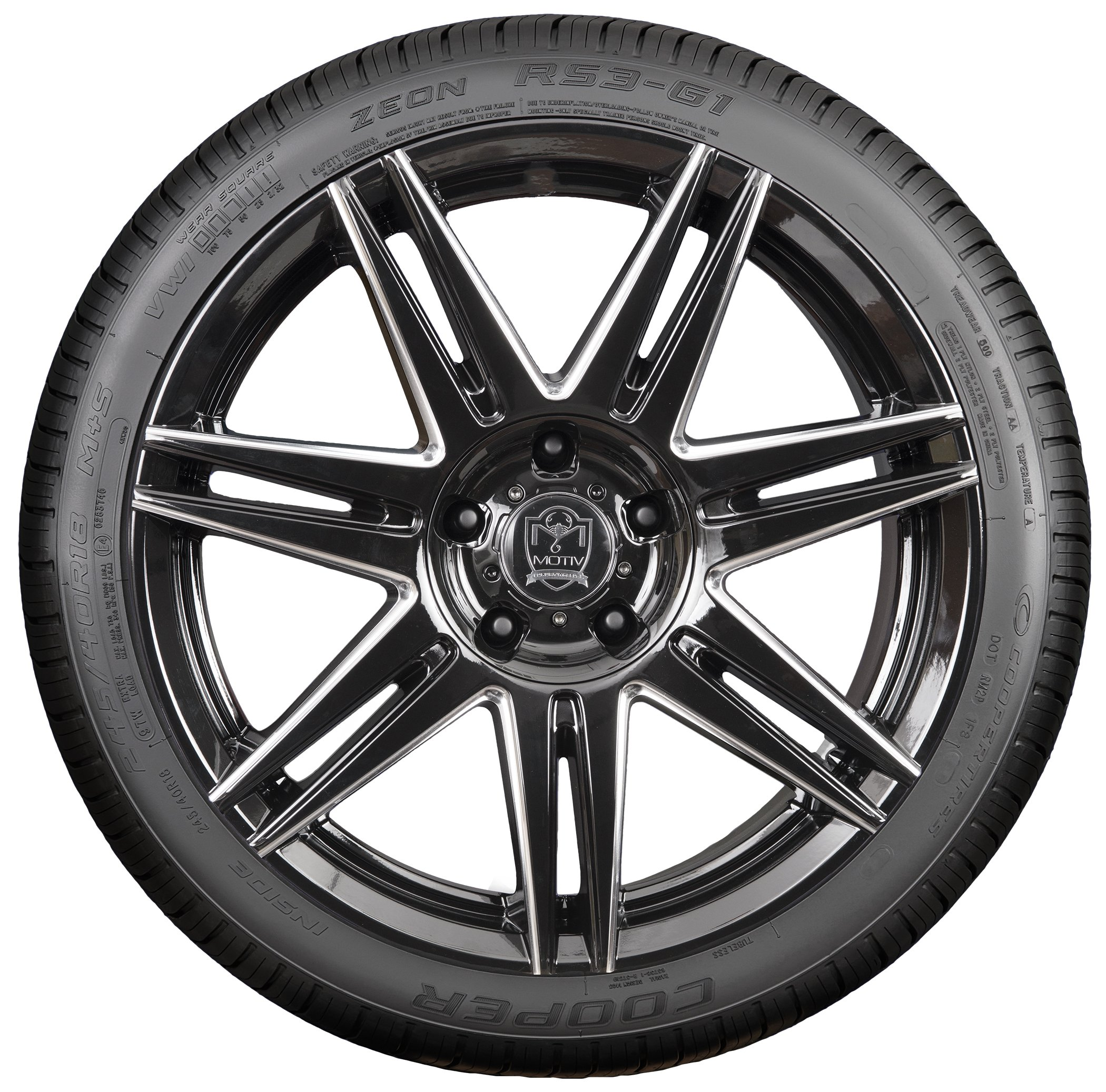 Cooper Tires Zeon RS3-G1 Performance Radial Tire - 215/45R17 91W by Cooper Tire (Image #2)