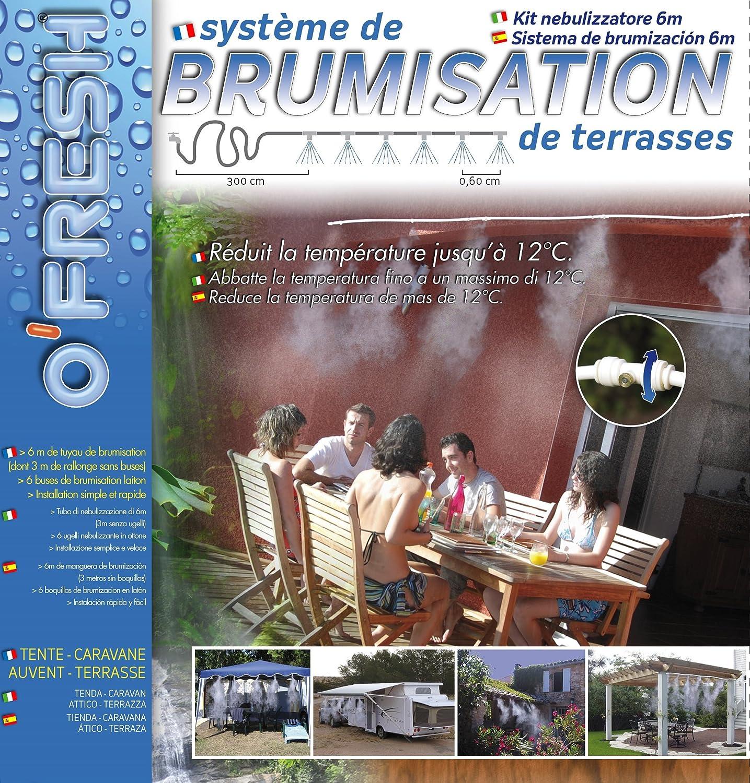 O Fresh 020 Zerst/äuber terrasse 6 m mit 6 verschiedenen D/üsen