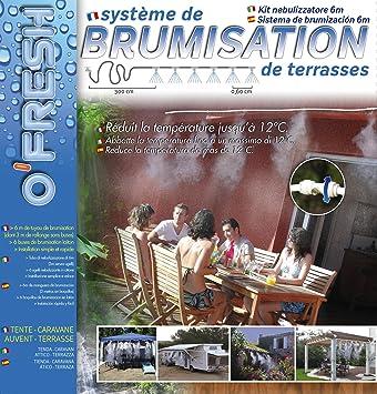 O\'Fresh 020 - Nebulizzatore da terrazzo con 6 ugelli, 6 m: Amazon ...