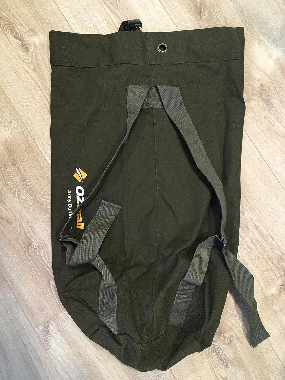 Bolsa de lona estilo militar BPC-DUFA-D Canvas Duffle Bag Army 82 x 30 x 30 cm