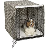 MidWest Wire Dog Crate Covers in Black or Camouflage Polyester or a Heavy-Duty Cotton/Polyester Blend Featuring Teflon Fabric Protector