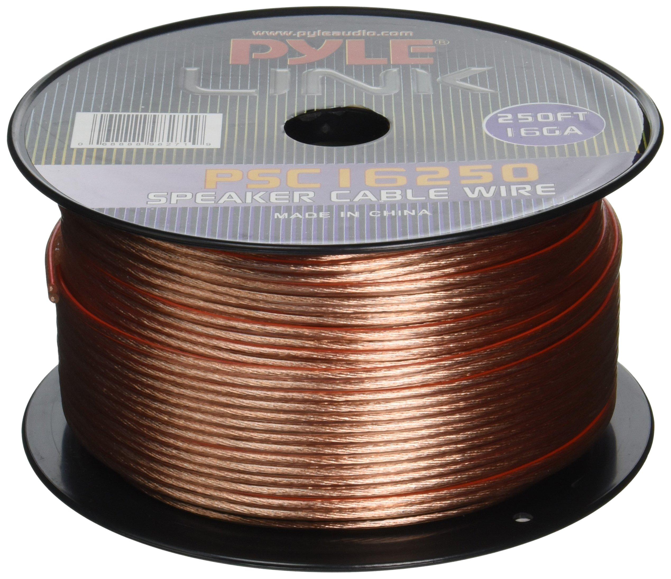 Pyle PSC16250 16-Gauge 250-Feet Spool of Speaker Zip Wire by Pyle