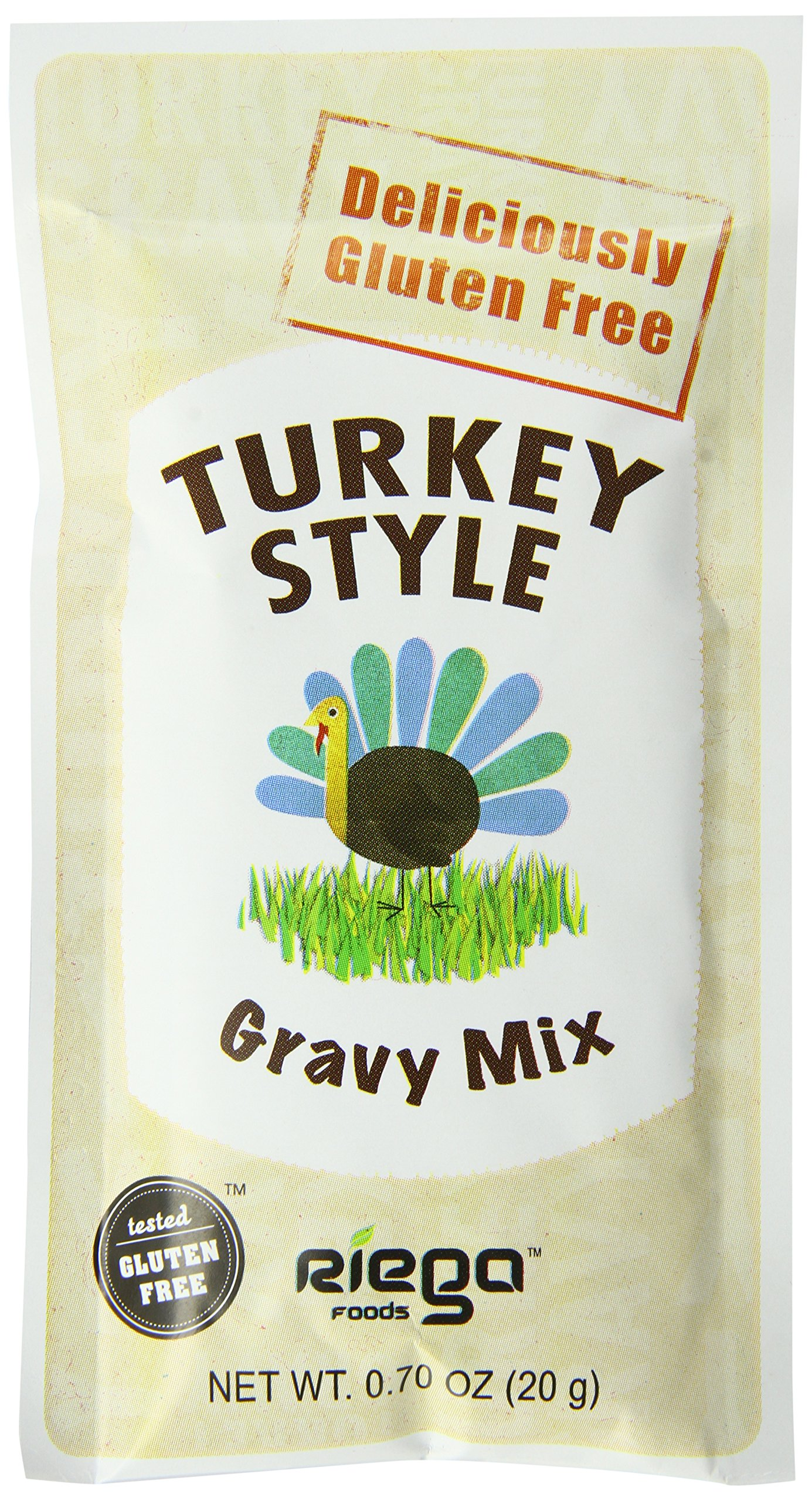 Riega Gluten Free Turkey Style Gravy Mix, 0.70 Ounce (Pack of 8) by Riega