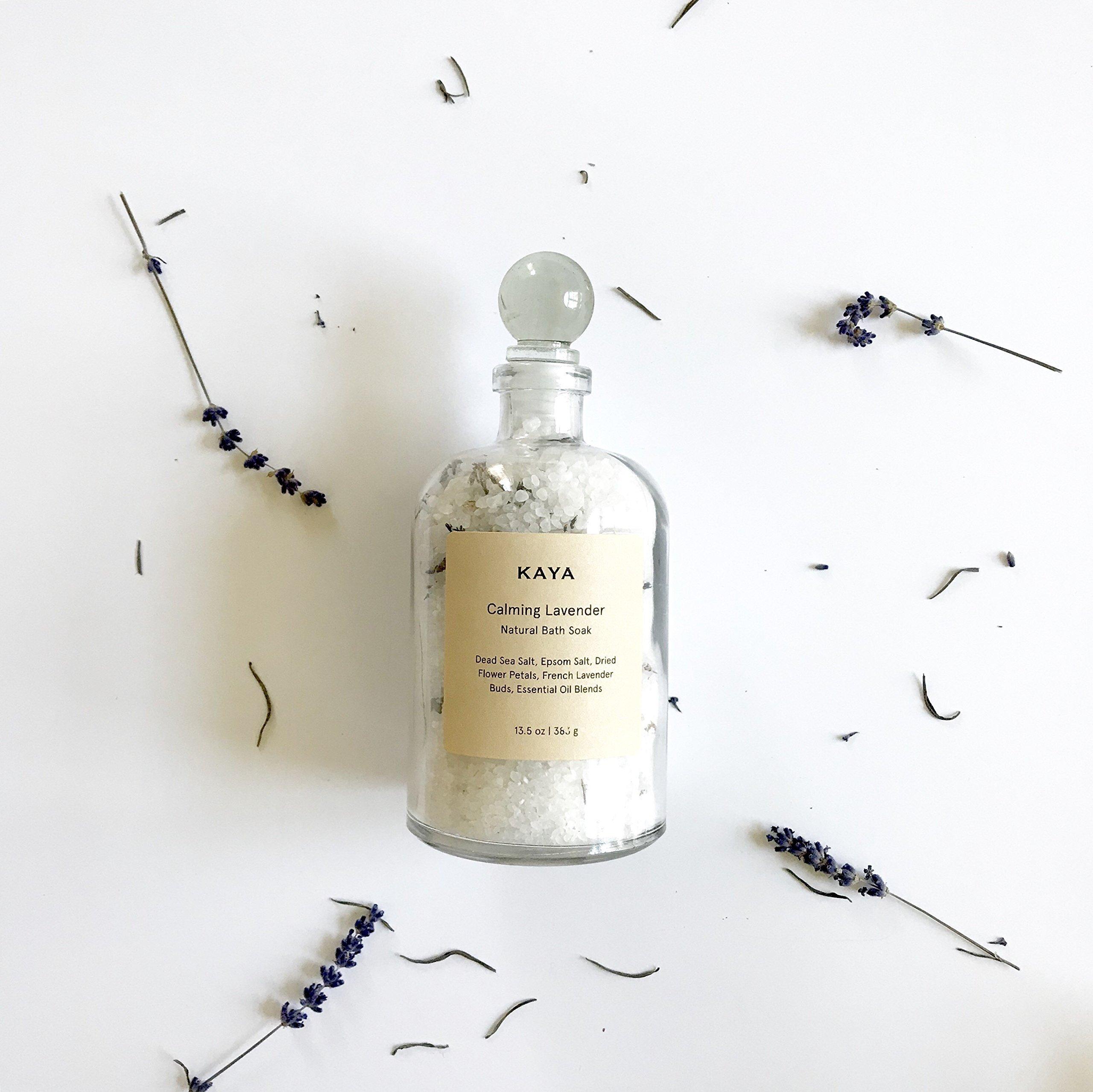 Kaya Lavender Bath Salts | All Natural Bath Soak 13.5 oz by KayaSoaps