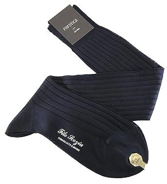 PRESTIGE (3 Pares) Calcetines de hombre largos a canalé hasta la rodilla 100%