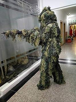 CXDM Trajes de Camuflaje Ghillie Set 3D Hoja biónica Disfraz ...