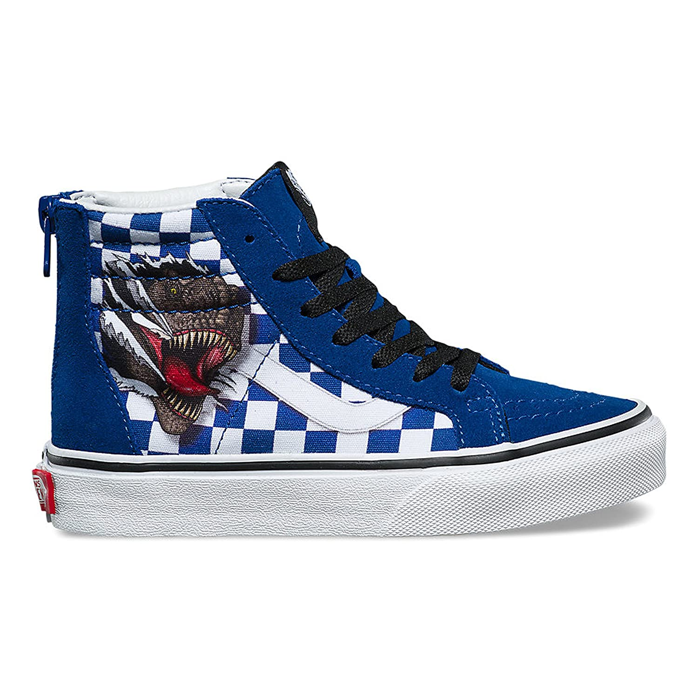 6ca307259b Vans Kids SK8-Hi Zip (Checkerboard) Dino True White VN0A3276UDX Kids Size  7  Amazon.ca  Shoes   Handbags