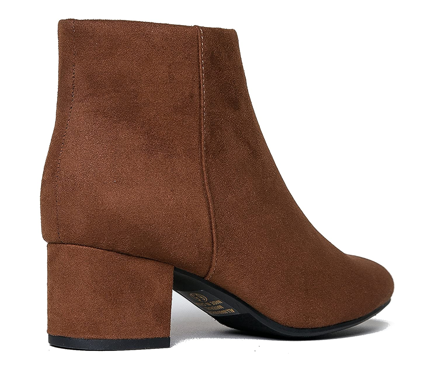 d8a8c7853f Amazon.com | J. Adams Low Heel Ankle Boot - Casual Zip Up Bootie -  Comfortable Everyday Round Toe Bootie - Jody | Ankle & Bootie