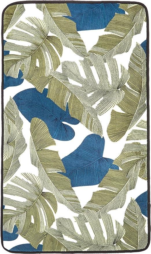 AmazonBasics - Alfombra de espuma con estampado, diseño de hojas ...