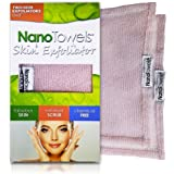 Nano Towels Skin Exfoliating Cleanser | Personal Microdermabrasion Face Wash, Pore Toner & Body Scrub Cloth | Chemical Free Dead Skin and Blackhead Remover. Korean Skin Care Secret. 2 Exfoliators