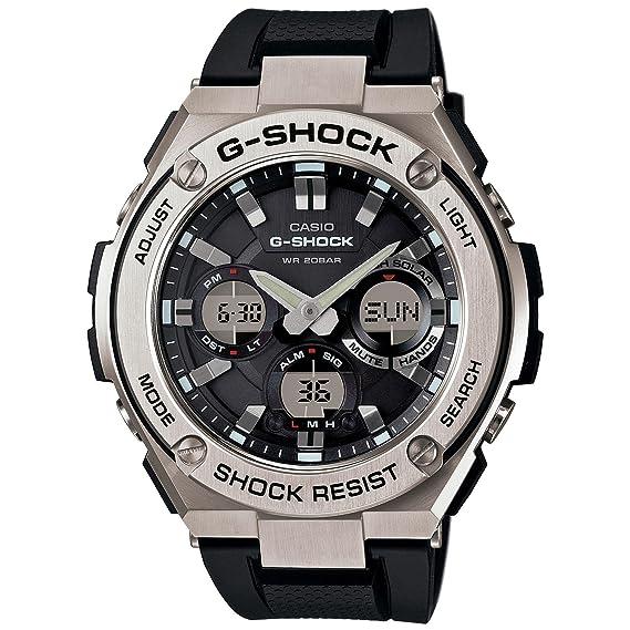 cdc90fbfc343 Casio De los hombres G SHOCK  acero inoxidable y resina de cuarzo reloj  Casual