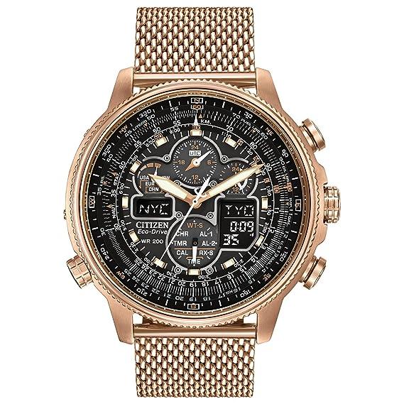 Citizen Promaster Navihawk A-T- Reloj con movimiento Eco Drive U680, para hombre, pulsera de acero inoxidable, color oro rosado: Amazon.es: Relojes