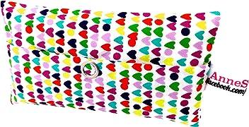 Taschentücher Tasche Herz bunt heart Design Adventskalender Befüllung Wichtelgeschenk Mitbringsel Give away Mitarbeiter Weihnachten