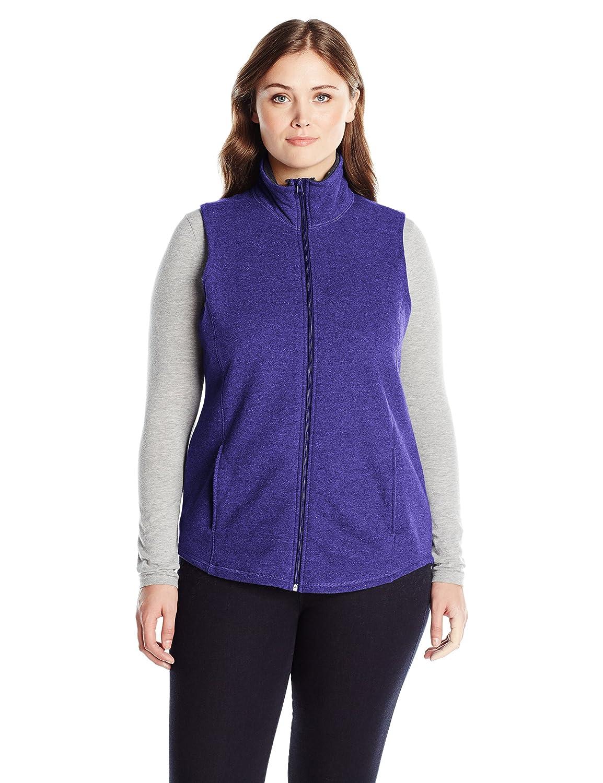 Just My Size Womens Plus-Size Plusmock Neck Full-Zip Vest Just My Size Activewear OJ309