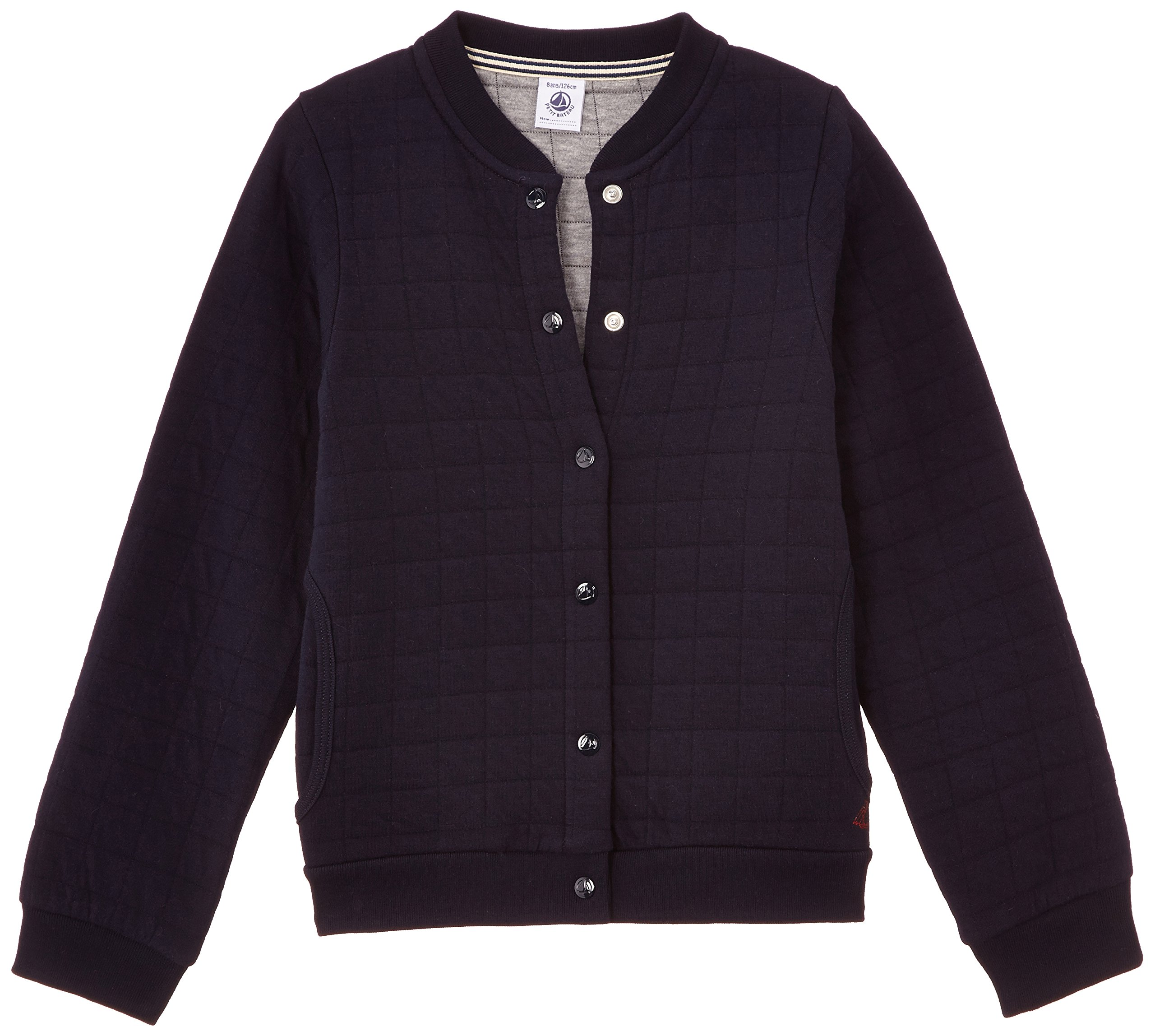 Petit Bateau Girl's Quilted Collarless Jacket- 4A