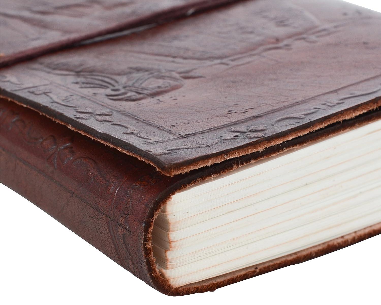 Gusti Leder nature Cindy Blocco Appunti DIN A6 Libro Diario Blocco da disegno Pelle Bovina Cuoio Universit/à Ufficio Fantasia Cammello Grande P40