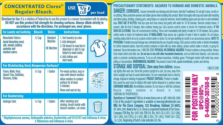 Amazon Clorox Regular Bleach 30 Ounces Health Personal Care