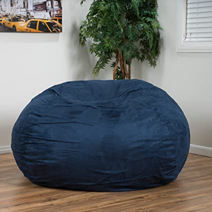 Amazing Amazon Com 5 Foot Lounge Beanbag Chair Suede Microfiber Gmtry Best Dining Table And Chair Ideas Images Gmtryco