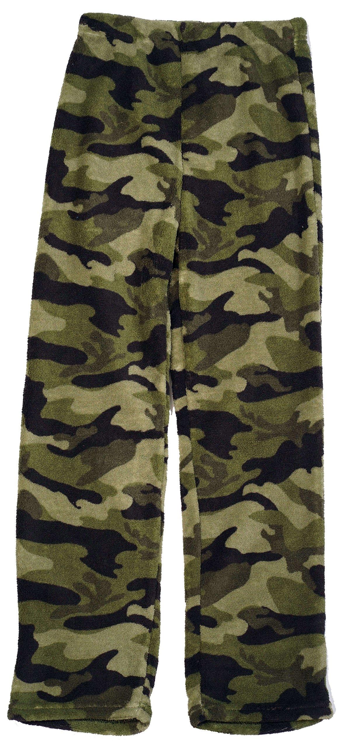 Prince of Sleep Plush Pajama Pants for Boys 45508-CAMOGRN-8