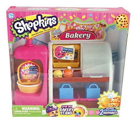 spin mix bakery stand season 1 shopkins playset amazon ca home