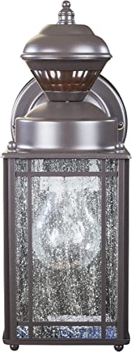 Heath Zenith HZ-4133-OR Shaker Cove Mission-Style 150-Degree Motion-Sensing Decorative Security Light, Oil-Rubbed Bronze