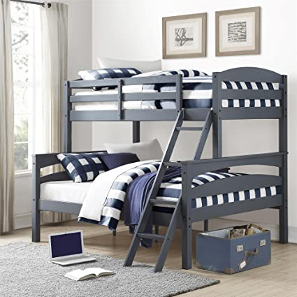 Amazon Com Gray Colored Twin Over Full Size Bunk Bed Ladder