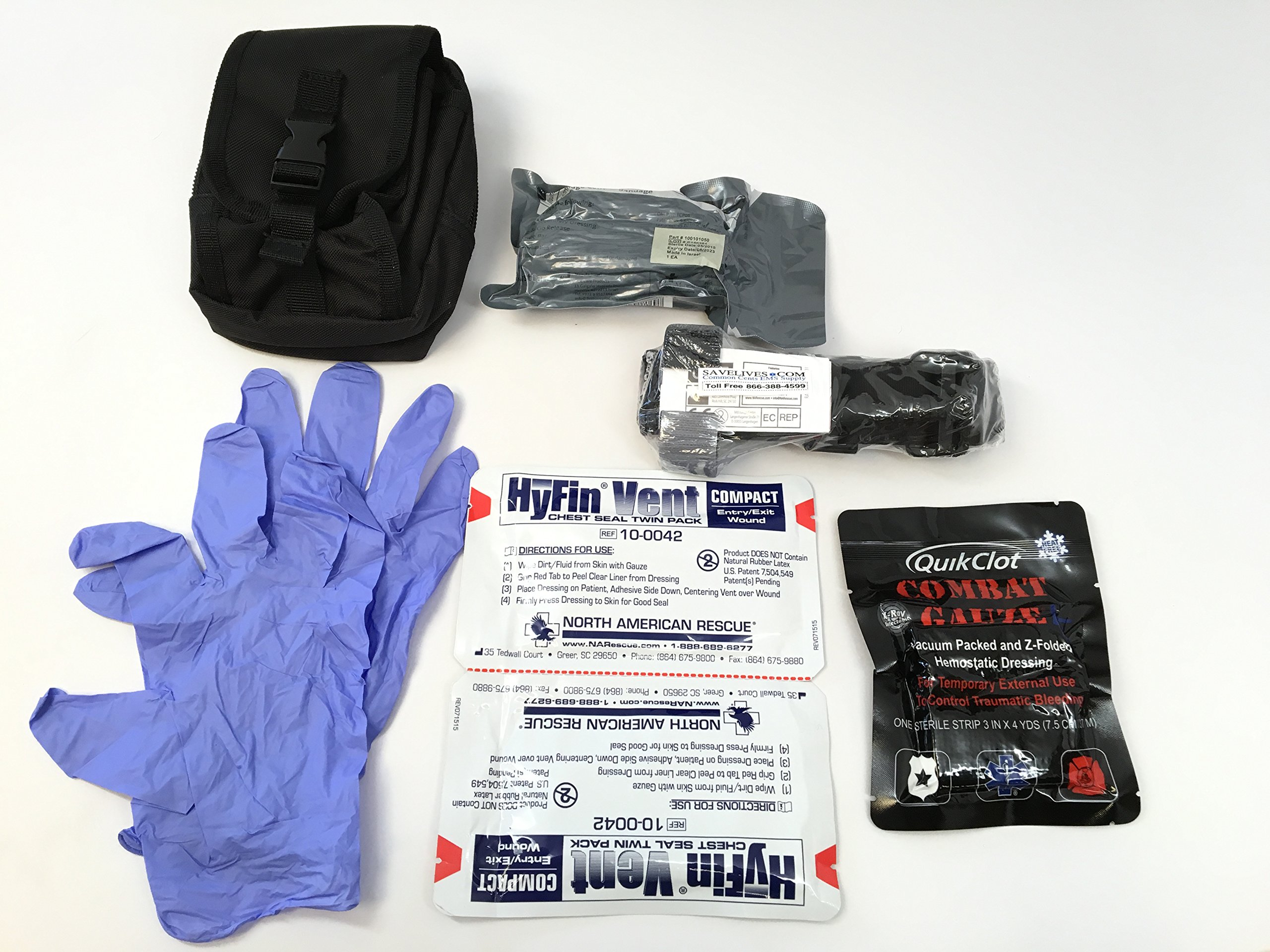 IFAK (Individual First Aid Kit) in MOLLE CASE by Common Cents EMS Supply
