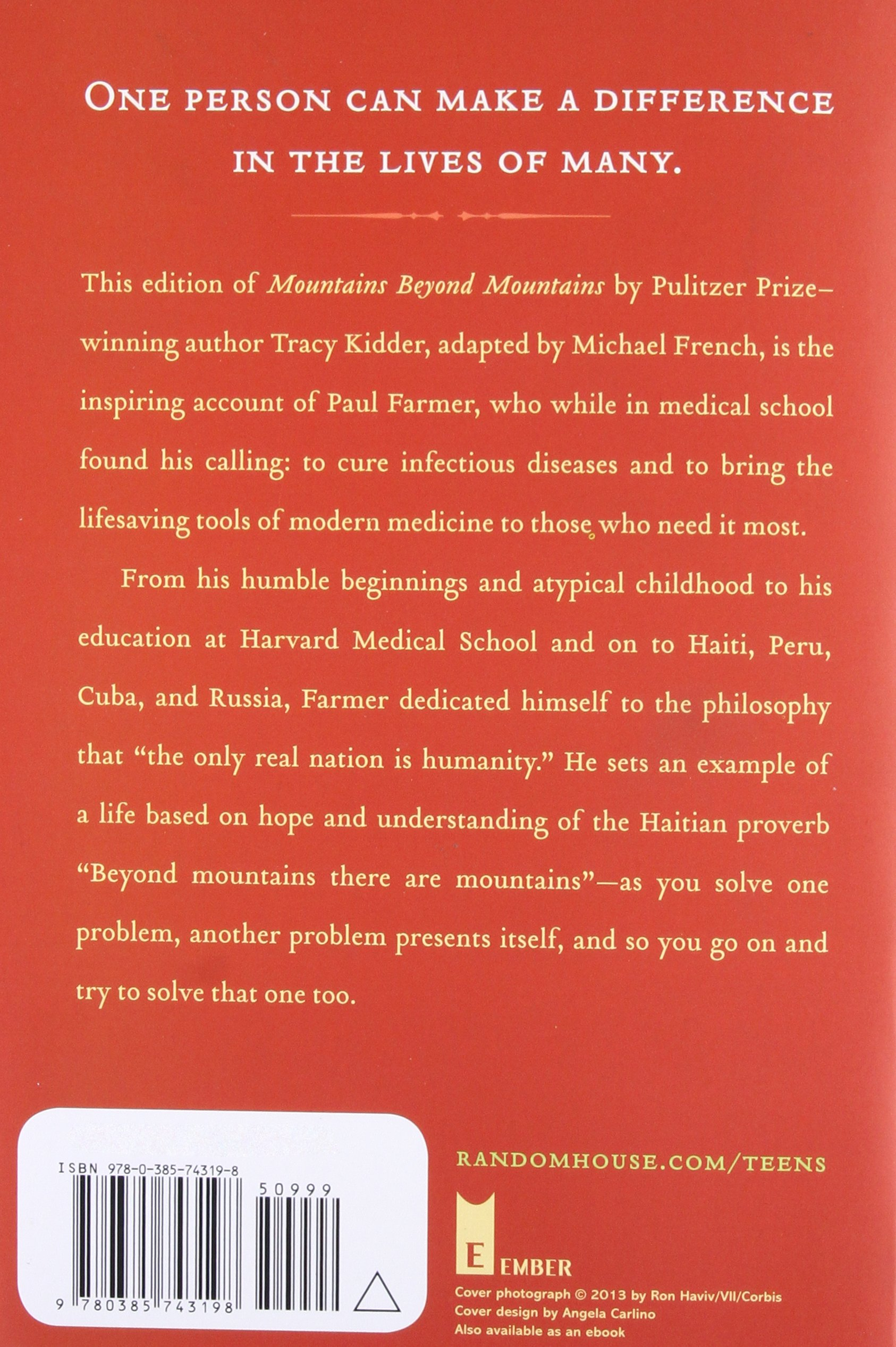 Mountains Beyond Mountains: The Quest of Dr. Paul Farmer, a ...