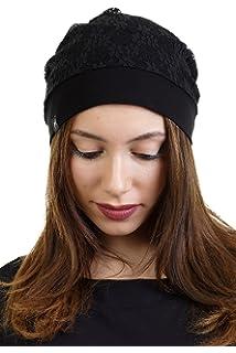 be18946c71cb 3Elfen Casquette avec Bordure de Dentelle Bonnet Femme de pour Femme ...