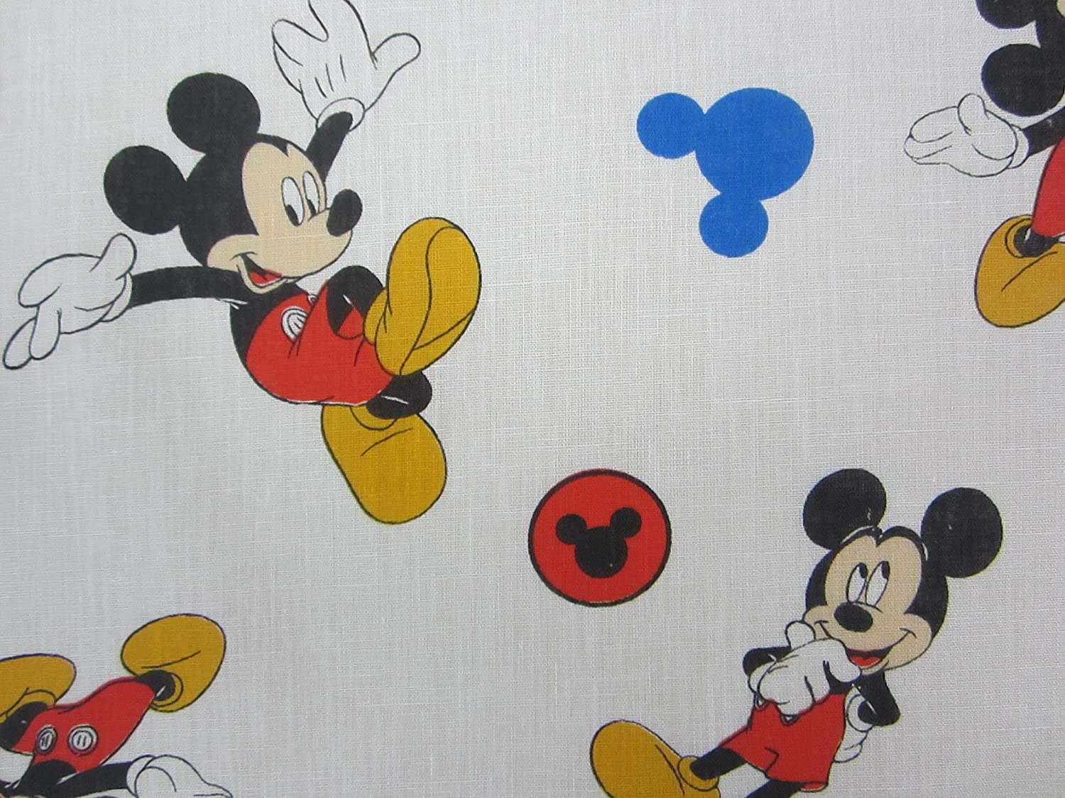 Mickey Mouse and Roadster Racers 60% Cotton (FLAT SHEET ONLY) Size TODDLER Boys Girls Kids Bedding Crown Crafts Infant Products Inc.