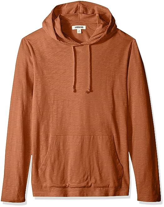 Marca Amazon - Goodthreads Lightweight Slub T-shirt Hoodie, Camiseta de Manga Larga para Hombre: Amazon.es: Ropa y accesorios