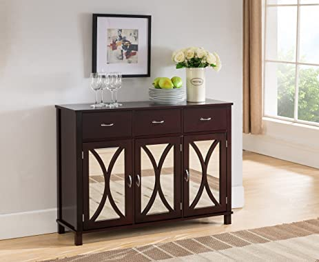 Amazon.com: Kings Brand Furniture Buffet Server Cabinet / Console ...