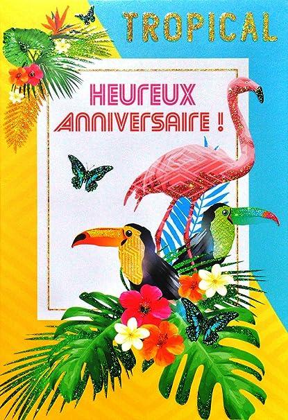 afie 69 - 4003 tarjeta feliz cumpleaños purpurina, diseño de ...