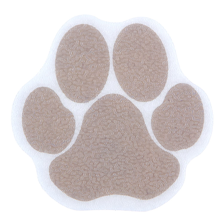 SlipX Solutions Adhesive Paw Print Bath Treads (Brown, 10cm Diameter, 6 ct.) Venturi COMIN18JU010323